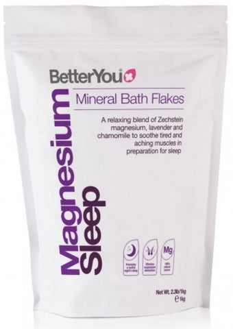 BetterYou Magnesium bath Flakes Sleep 1000g