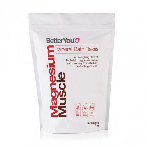 BetterYou Magnesium bath Flakes Muscle 1000g