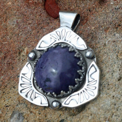 Purple Sun Pendant