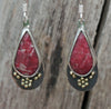 Love Pink Rhodochrosite Earrings
