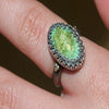 Carico Lake Turquoise Ring with 18k Gold   Size 6