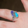 Turquoise and Boulder Opal Ring  Size  7 1/2