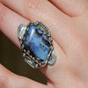 Queensland Boulder Opal Sterling Ring   Size 5