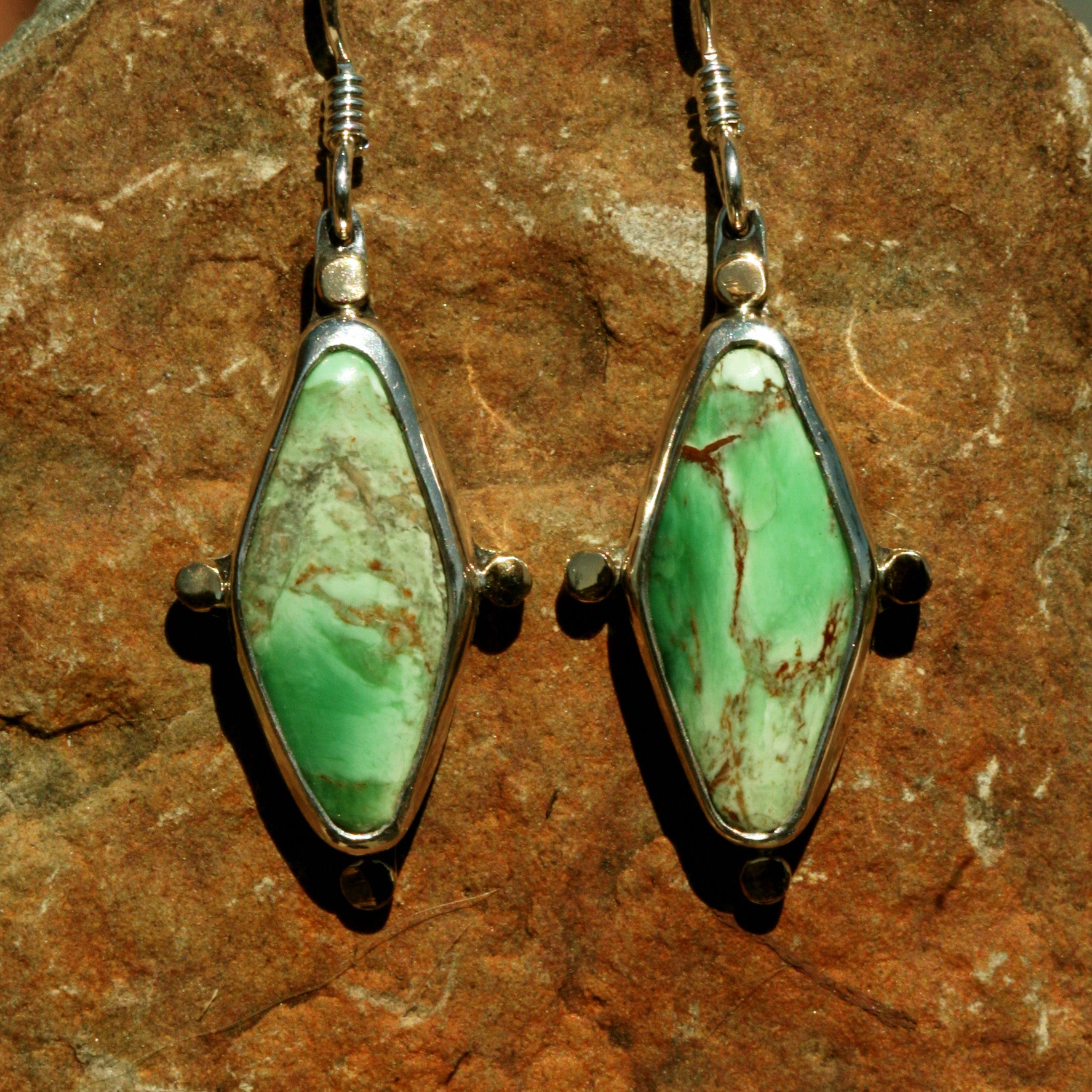Spring Light, Vivid Green Earrings