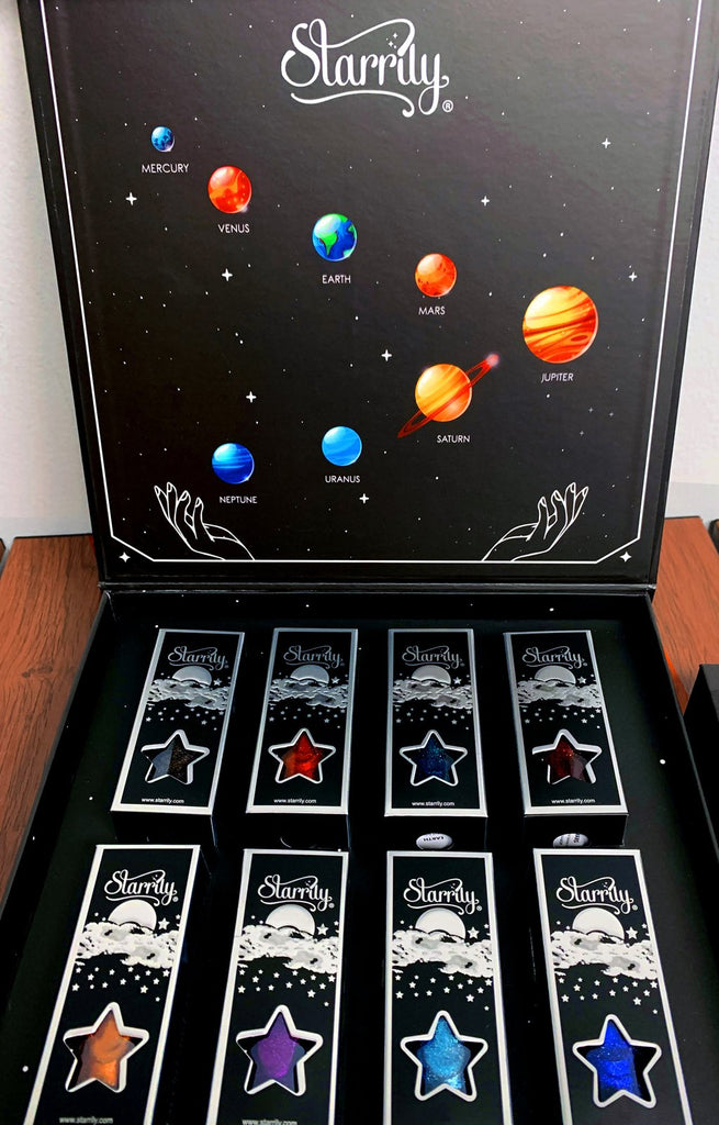 The Planets Gift Set Solar System Nails Nail Polish Space Collection Starrily
