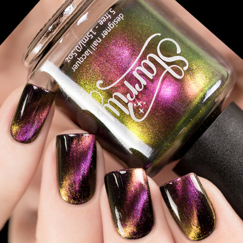 Starrily Nail Polish Holographic Glitter Mood Magnetic