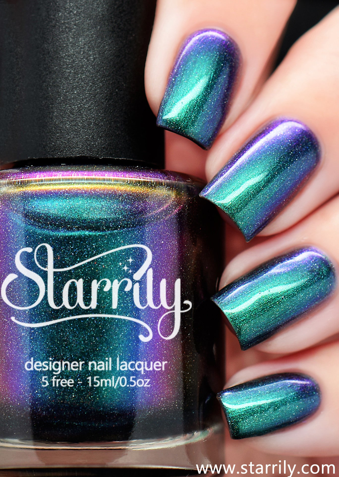 Starrily Aurora - Multichrome Color Changing Nail Polish - 15 ml