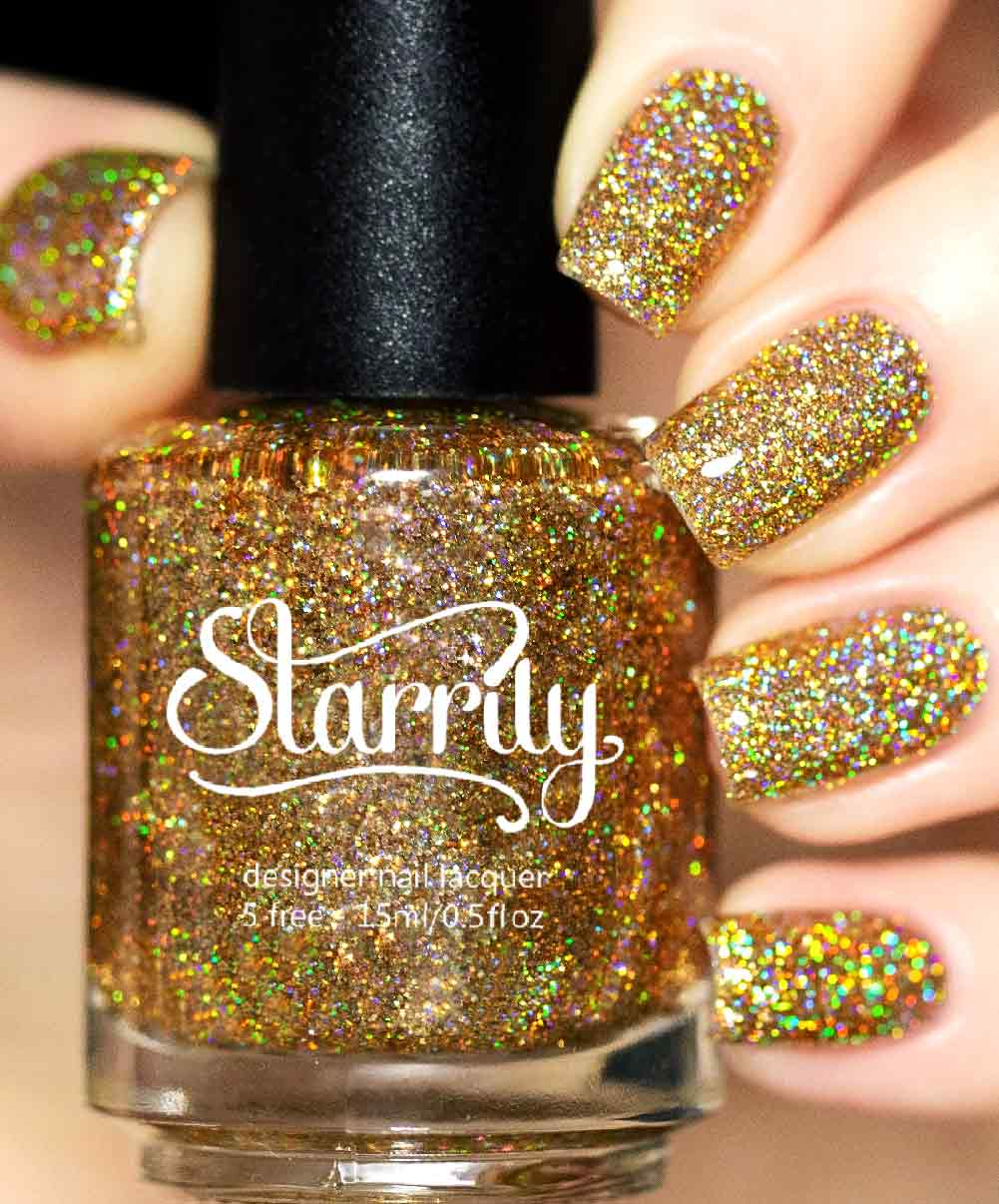 Starrily King Midas - Amazing Gold Glitter Nail Polish - 15 ml