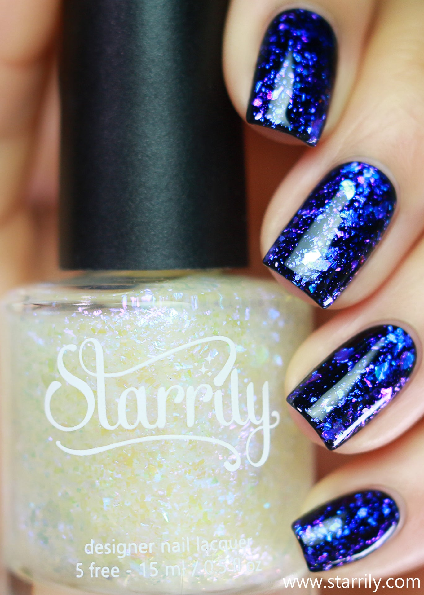 Patronus is a blue flake nail polish