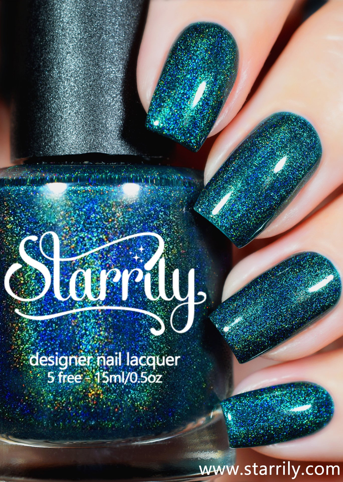 Quantum Energy is a beautiful green linear holographic nail polish
