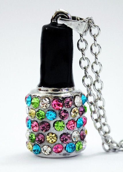 White Nail Polish Necklace