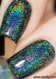 Eclipse holographic holo top coat linear holo rainbow holo taco