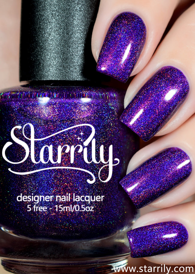 Ultraviolet is a bright bold purple linear holographic nail polish
