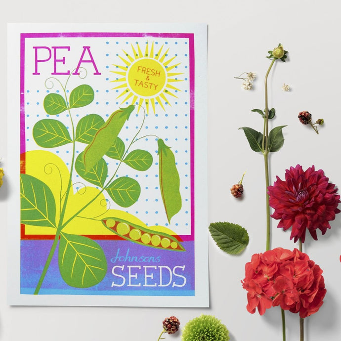 Pea Seeds A4 Risograph Print by Printer Johnson - ad&i