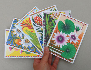 Flowers Of The World A6 Postcard Pack by Printer Johnson