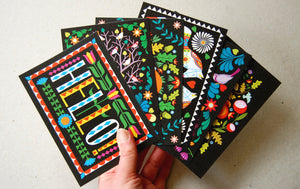 Folk Forest A6 Postcard Pack by Printer Johnson - ad&i