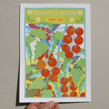 Load image into Gallery viewer, Tomato Seeds A4 Risograph Print by Printer Johnson