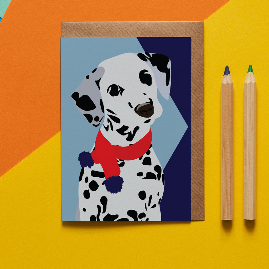 Dotty Dalmation Dog Greeting Card - ad&i