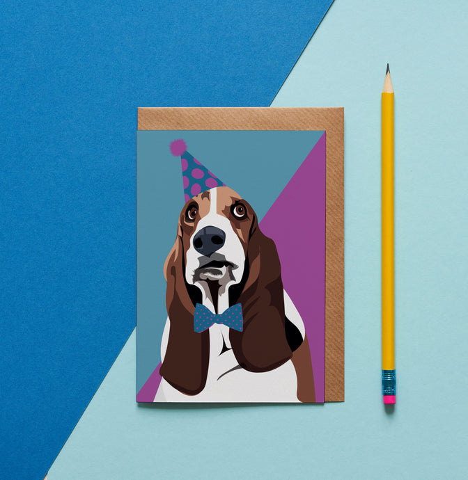 Daisy the Basset Hound Greeting Card - ad&i