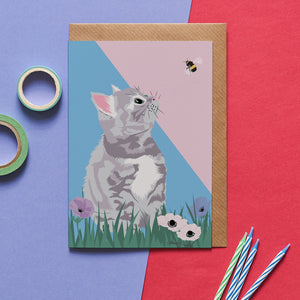 Smokey the Cat Greeting Card