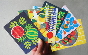 Fruit Salad A6 Postcard Pack by Printer Johnson - ad&i