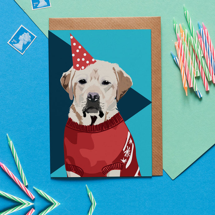 Tavis the Labrador Retriever Greeting Card - ad&i