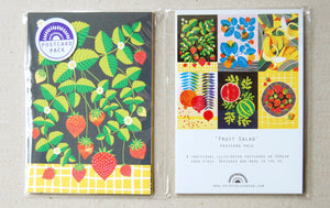 Fruit Salad A6 Postcard Pack by Printer Johnson