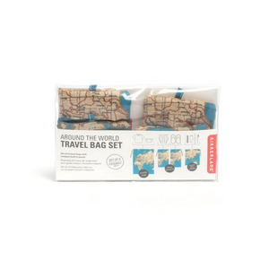Travel Map Laundry Bags Set of 4