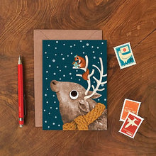Load image into Gallery viewer, Reindeer and Squirrel Christmas Card by Emily Nash - ad&i