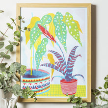 Load image into Gallery viewer, Bromeliad Botanical Plants A3 Risograph Print by Printer Johnson - ad&i
