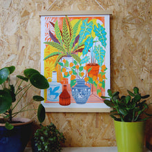Load image into Gallery viewer, Vessels and Plants A3 Risograph Print by Printer Johnson - ad&i