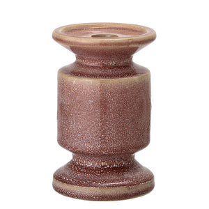 Large Rose Stoneware Candlestick Holder - ad&i
