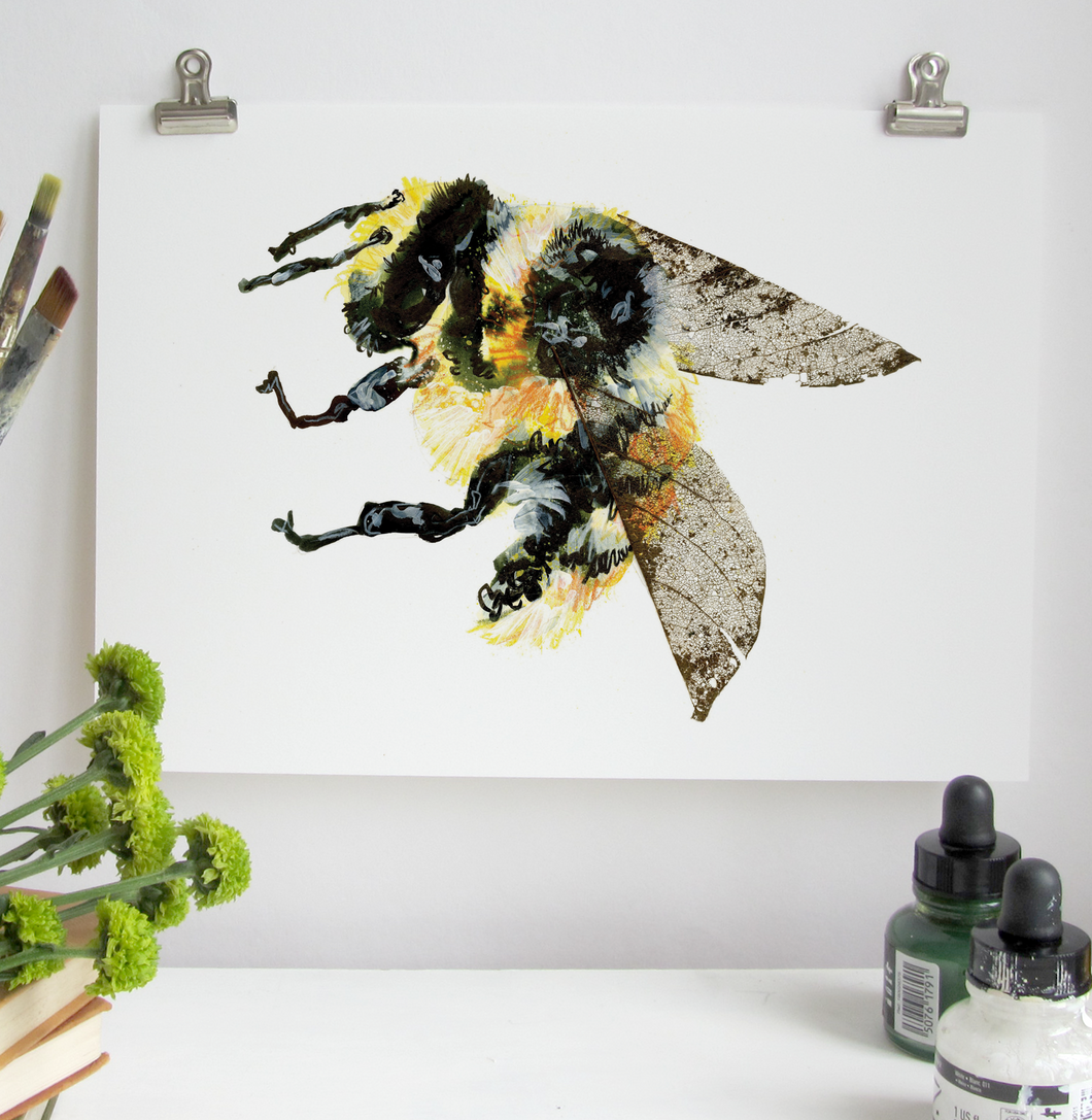 Bumble Bee A5 Digital Print by Abby Cook - ad&i