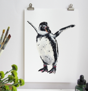 Humboldt Penguin A4 Digital Print by Abby Cook - ad&i