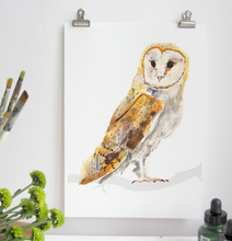Load image into Gallery viewer, Barn Owl A4 Digital Print by Abby Cook - ad&i