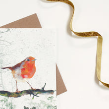 Load image into Gallery viewer, Robin Christmas Card