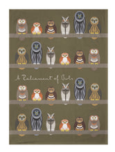 Load image into Gallery viewer, Parliament of Owls Tea Towel - ad&i