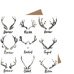 Deer Antler Christmas Card - ad&i
