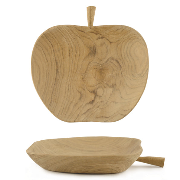 Apple Shaped Decorative Wooden Bowl - ad&i