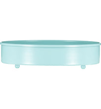 Load image into Gallery viewer, Sky Blue Metal Candle Platter Holder
