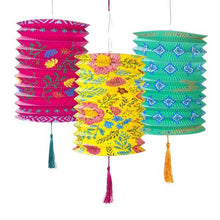Load image into Gallery viewer, Boho Paper Lanterns Set of Three