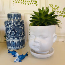 Load image into Gallery viewer, Large Ceramic Baby Face Plant Pot - ad&i