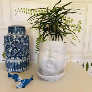 Large Ceramic Baby Face Plant Pot - ad&i