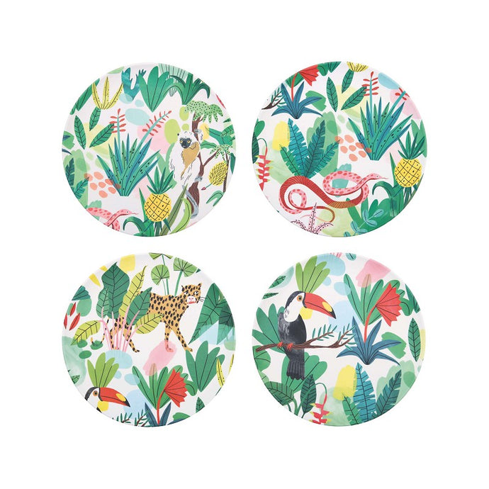 Bodil Jane Tropical Set of 4 Bamboo Plates