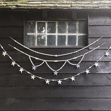 Load image into Gallery viewer, Bead and Star Wooden Garland
