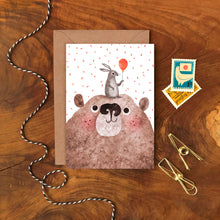 Load image into Gallery viewer, Bear and Bunny Card - ad&i