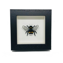 Load image into Gallery viewer, Embroidered and Painted Bumble Bee Framed Wall Art - ad&i