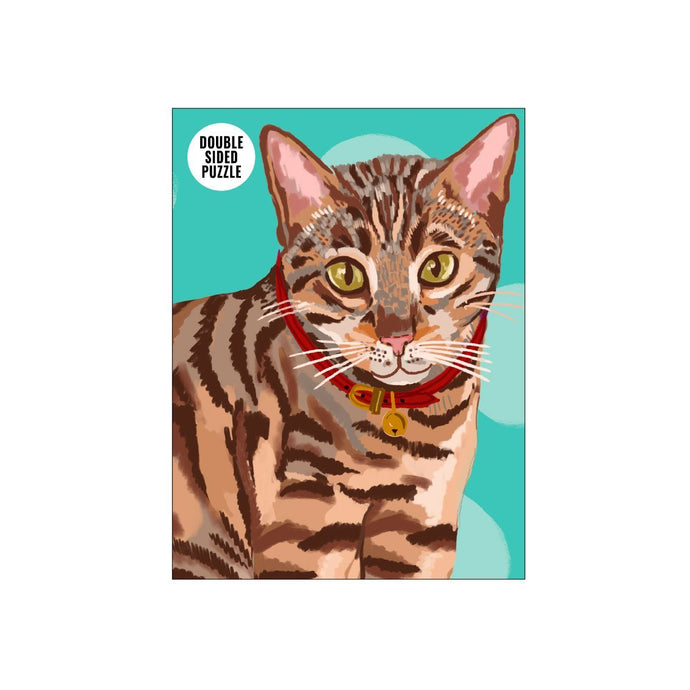 100 Piece Double Sided Bengal Cat Jigsaw Puzzle