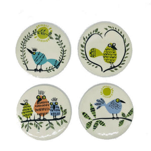Bird Life Coasters Set of 4