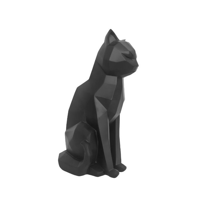 3D Sitting Cat Geometric Ornament